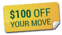 $100 off your move
